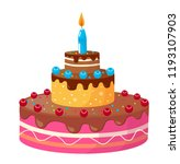 birthday cake vector | Shutterstock .eps vector #1193107903