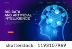deep learning. big data and... | Shutterstock .eps vector #1193107969