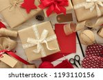 christmas gifts wrapping ...   Shutterstock . vector #1193110156