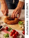 bagel and breakfast | Shutterstock . vector #1193118679