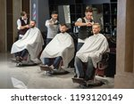 process of styling and grooming ...   Shutterstock . vector #1193120149