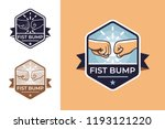 badge for friendship with fist... | Shutterstock .eps vector #1193121220