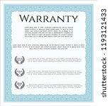 light blue formal warranty... | Shutterstock .eps vector #1193121433