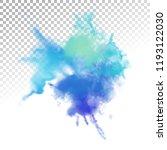 vector watercolor splash with... | Shutterstock .eps vector #1193122030