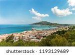 greece  zante city skyline with ... | Shutterstock . vector #1193129689