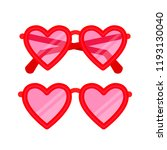 heart shaped eyeglasses. cute... | Shutterstock .eps vector #1193130040