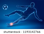 a soccer player performing... | Shutterstock .eps vector #1193142766