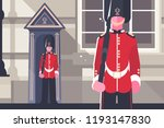 british royal guardsman queens... | Shutterstock .eps vector #1193147830
