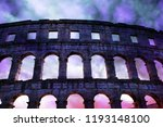 the roman amphitheater with... | Shutterstock . vector #1193148100