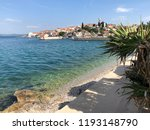 town kali on the island of... | Shutterstock . vector #1193148790