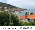 the harbor of the town kali on... | Shutterstock . vector #1193148799
