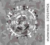 obsolete grey camo emblem | Shutterstock .eps vector #1193149426