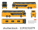 tourist bus vector mockup on... | Shutterstock .eps vector #1193151079