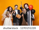 group of friends dressed in... | Shutterstock . vector #1193151220