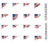 usa flag  vector illustration... | Shutterstock .eps vector #1193152300
