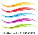 set of abstract vector flow... | Shutterstock .eps vector #1193153830