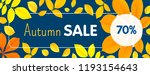 autumn final sale concept... | Shutterstock .eps vector #1193154643