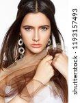 beauty woman portrait in indian ... | Shutterstock . vector #1193157493