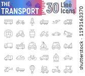 transport thin line icon set ... | Shutterstock .eps vector #1193163370