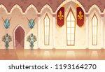 vector castle hall  hallway in... | Shutterstock .eps vector #1193164270