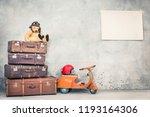 retro teddy bear toy in aviator'... | Shutterstock . vector #1193164306