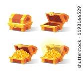 wooden chest set for game... | Shutterstock .eps vector #1193166529
