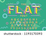 vector of modern bold font and... | Shutterstock .eps vector #1193170393