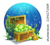 vector illustration chest with... | Shutterstock .eps vector #1193171509