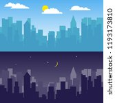 city landscape  day and night... | Shutterstock .eps vector #1193173810