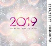festive shiny 2019 happy new... | Shutterstock .eps vector #1193176633