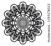 sacred oriental mandala. color... | Shutterstock .eps vector #1193178313