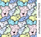 seamless pattern with funny... | Shutterstock . vector #1193179423