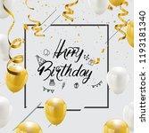 happy birthday vector...   Shutterstock .eps vector #1193181340