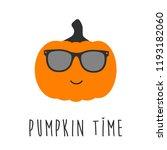 cool pumpkin character with... | Shutterstock .eps vector #1193182060