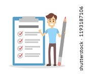 getting things done. man with... | Shutterstock . vector #1193187106