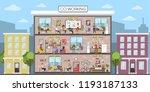 coworking building interior.... | Shutterstock . vector #1193187133
