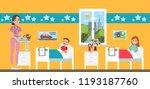 children hospital room with...   Shutterstock . vector #1193187760