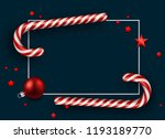 blue merry christmas and happy... | Shutterstock .eps vector #1193189770
