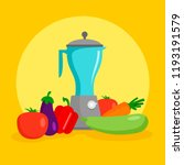 vegetables mixer concept... | Shutterstock .eps vector #1193191579
