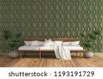 3d interior design room  green... | Shutterstock . vector #1193191729