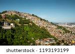 favela morro dos prazeres in...   Shutterstock . vector #1193193199