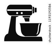 machine mixer icon. simple... | Shutterstock .eps vector #1193193586