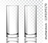 tall glass on a transparent...   Shutterstock .eps vector #1193195170