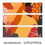 abstract autumn banner design.... | Shutterstock .eps vector #1193195926