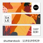 autumn sale banner design.... | Shutterstock .eps vector #1193195929
