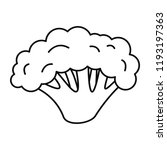 fresh broccoli icon. outline... | Shutterstock .eps vector #1193197363
