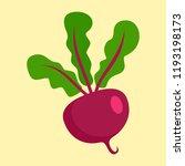 beet icon. flat illustration of ... | Shutterstock .eps vector #1193198173