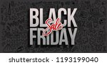 black friday sale on black... | Shutterstock .eps vector #1193199040