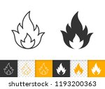 fire black linear and... | Shutterstock .eps vector #1193200363