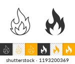 fire black linear and... | Shutterstock .eps vector #1193200369